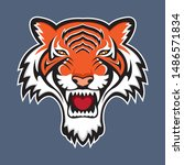 awesome tiger mascot design... | Shutterstock .eps vector #1486571834