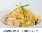 Close Up View Tagliatelle With...