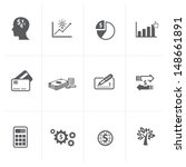 business   finance icons | Shutterstock .eps vector #148661891