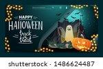 happy halloween  trick or treat ...   Shutterstock .eps vector #1486624487