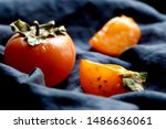 Slices Of Persimmon.ripe Orange ...