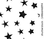 background of hand drawn star... | Shutterstock .eps vector #1486646894