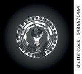 business idea icon on grey camo ... | Shutterstock .eps vector #1486671464