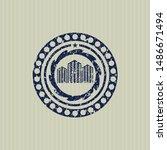 blue buildings icon inside... | Shutterstock .eps vector #1486671494