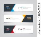 vector abstract banner design... | Shutterstock .eps vector #1486683011