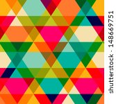 pattern of geometric shapes.... | Shutterstock .eps vector #148669751