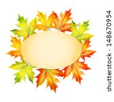 blank sheet of paper decorated... | Shutterstock .eps vector #148670954