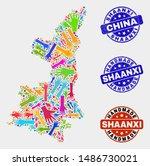 vector handmade combination of... | Shutterstock .eps vector #1486730021