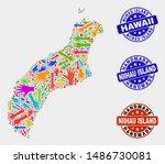 vector handmade collage of... | Shutterstock .eps vector #1486730081