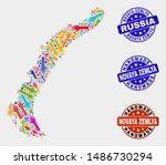 vector handmade combination of... | Shutterstock .eps vector #1486730294