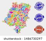 vector handmade collage of... | Shutterstock .eps vector #1486730297