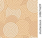 Beige Seamless With Concentric...