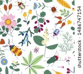 Seamless Pattern With Bugs ...