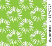 chamomile flowers. daisy petals ... | Shutterstock .eps vector #1486747727