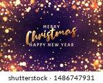 christmas light vector... | Shutterstock .eps vector #1486747931