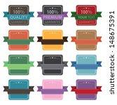 vector illustration of label set | Shutterstock .eps vector #148675391