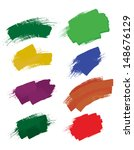 colorful brush strokes | Shutterstock .eps vector #148676129