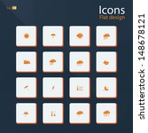 flat icon set for weather...