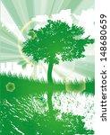 eco tree water city green... | Shutterstock .eps vector #148680659
