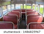 salon of the old suburban bus... | Shutterstock . vector #1486825967