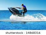 man on jet ski   Shutterstock . vector #14868316