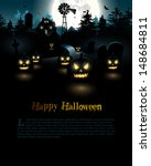 halloween poster with copyspace | Shutterstock .eps vector #148684811