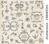 vector set  calligraphic design ... | Shutterstock .eps vector #148685261