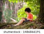 Child With A Book. Kids Read In ...