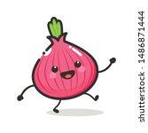 onion character mascot .fruit   ...