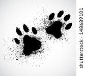 Grunge dog paws
