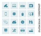 vector set of 16 technology... | Shutterstock .eps vector #148690469