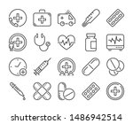 medical icon. medicine and... | Shutterstock .eps vector #1486942514
