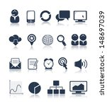 business and media icons | Shutterstock .eps vector #148697039