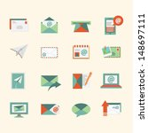 email icons | Shutterstock .eps vector #148697111