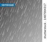 realistic rain texture on...   Shutterstock .eps vector #1487004317