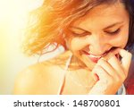 beauty sunshine girl portrait.... | Shutterstock . vector #148700801