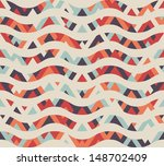 seamless geometric ethnic wave... | Shutterstock .eps vector #148702409