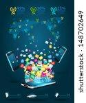 creative mobile phones cloud of ... | Shutterstock .eps vector #148702649