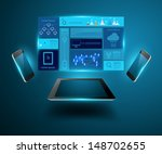 modern technology business... | Shutterstock .eps vector #148702655