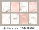 luxury brochure  cover  wedding ... | Shutterstock .eps vector #1487109371