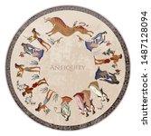 crete. heraklion. cicrcle... | Shutterstock .eps vector #1487128094