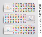 banners with colorful dots... | Shutterstock .eps vector #148715309