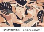modern artistic illustration... | Shutterstock .eps vector #1487173604
