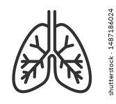 lungs internal organ outline...   Shutterstock .eps vector #1487186024