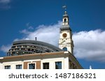 Riga Town Hall With Clock And...