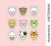 Cute Cupcake Animal Character...