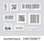 qr codes and barcode labels.... | Shutterstock .eps vector #1487200877