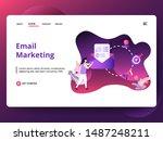 illustration email marketing ...
