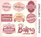 vintage bakery badges and... | Shutterstock .eps vector #148725665