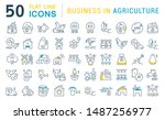 set of vector line icons of... | Shutterstock .eps vector #1487256977